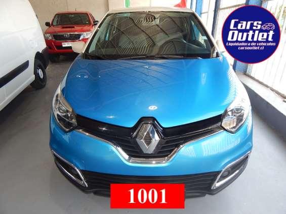 Renault captur dynamique 1.5 2016 $7.700.000 station wagon azul pacifico blanco diésel km 53.094 a/c espejos eléctricos alzavidrios eléctricos isofix abx2 volante multifunción www.carsoutlet.cl