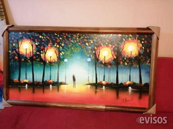 Exposicion de cuadros óleo sobre tela