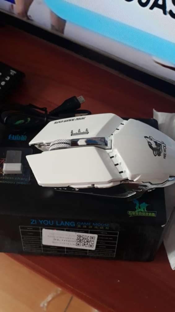 Fotos de Mouse gamer inalambrico recargable led 7