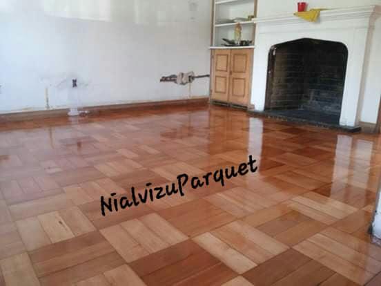 Pulido y vitrificado de piso parquet