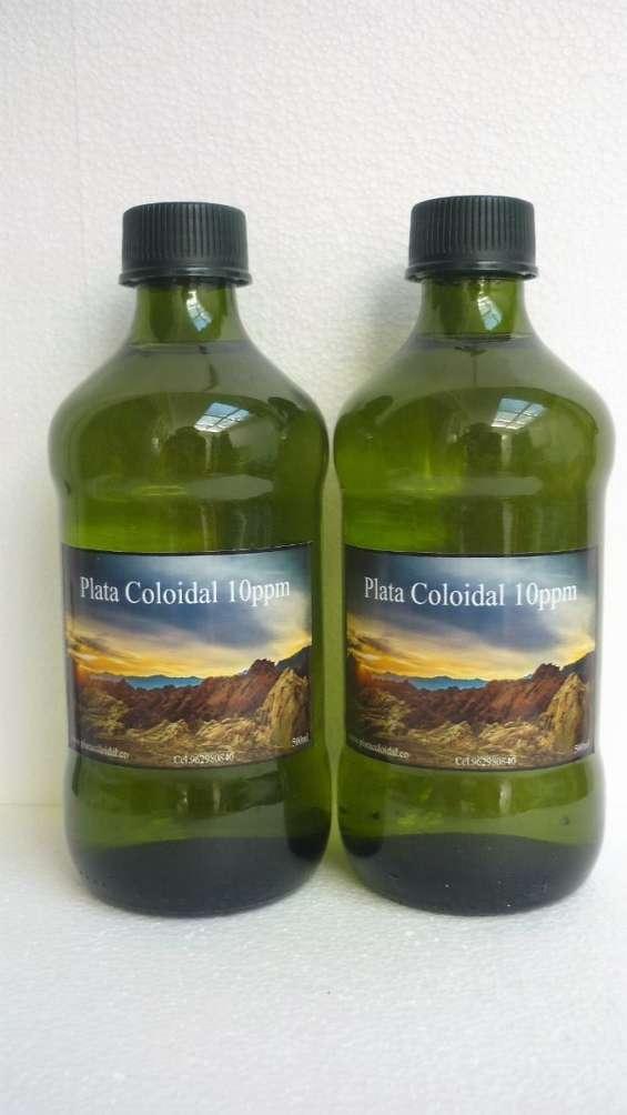 Plata coloidal 10 o 20ppm (paquete de 2) - 500ml botellas