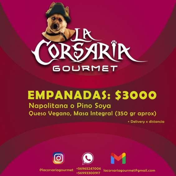 Empanadas y pizzas veganas la corsaria gourmet.