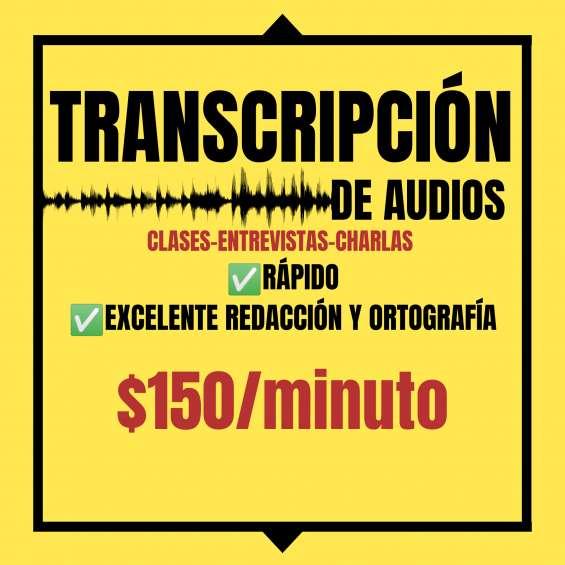 Transcripción de audios