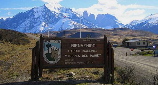 Entrada del parque nacional