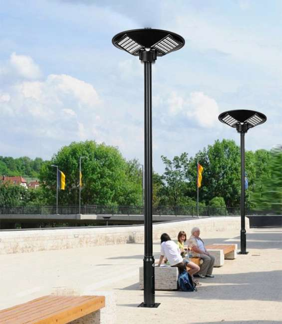 Foco poste solar 300w iluminacion 28m2